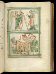The Annunciation And The Nativity, In A Psalter